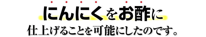 【発酵黒にんにく酢卵黄】